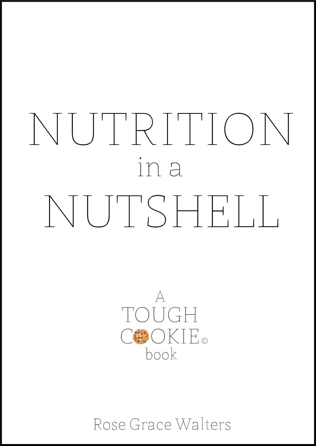 NUTRITION BOOK WITH BORDER